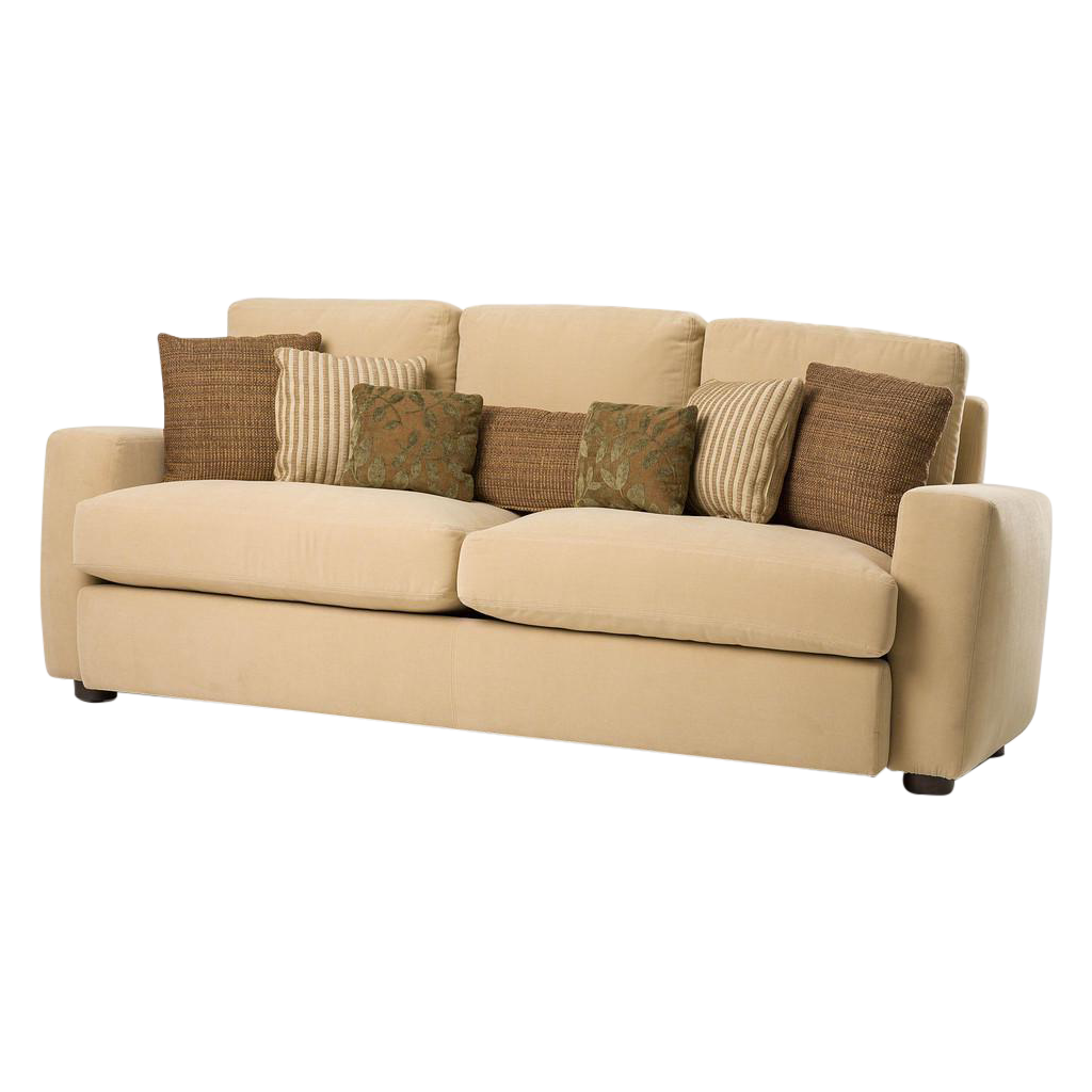 Modern Accent Pillows For Sofa : NEW Modern Melony Sofa With Three Accent Pillows, Retail Price: $1,650.00 - Design Plus Gallery