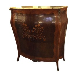 Antique Marble-Topped Viennese Commode
