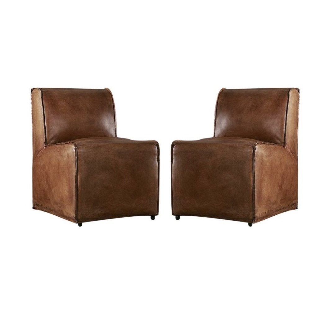 Sensational Restoration Hardware Bruno Leather Chair Pair Retail Ocoug Best Dining Table And Chair Ideas Images Ocougorg