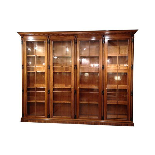 Italian bookcase library with glass doors retail price