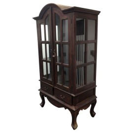 Wooden Hutch with Glass Panels