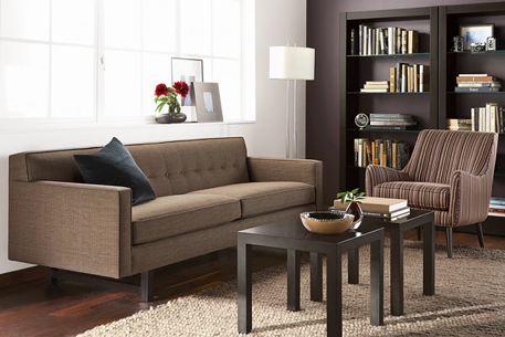 Room And Board Charcoal 89 Andre Sofa
