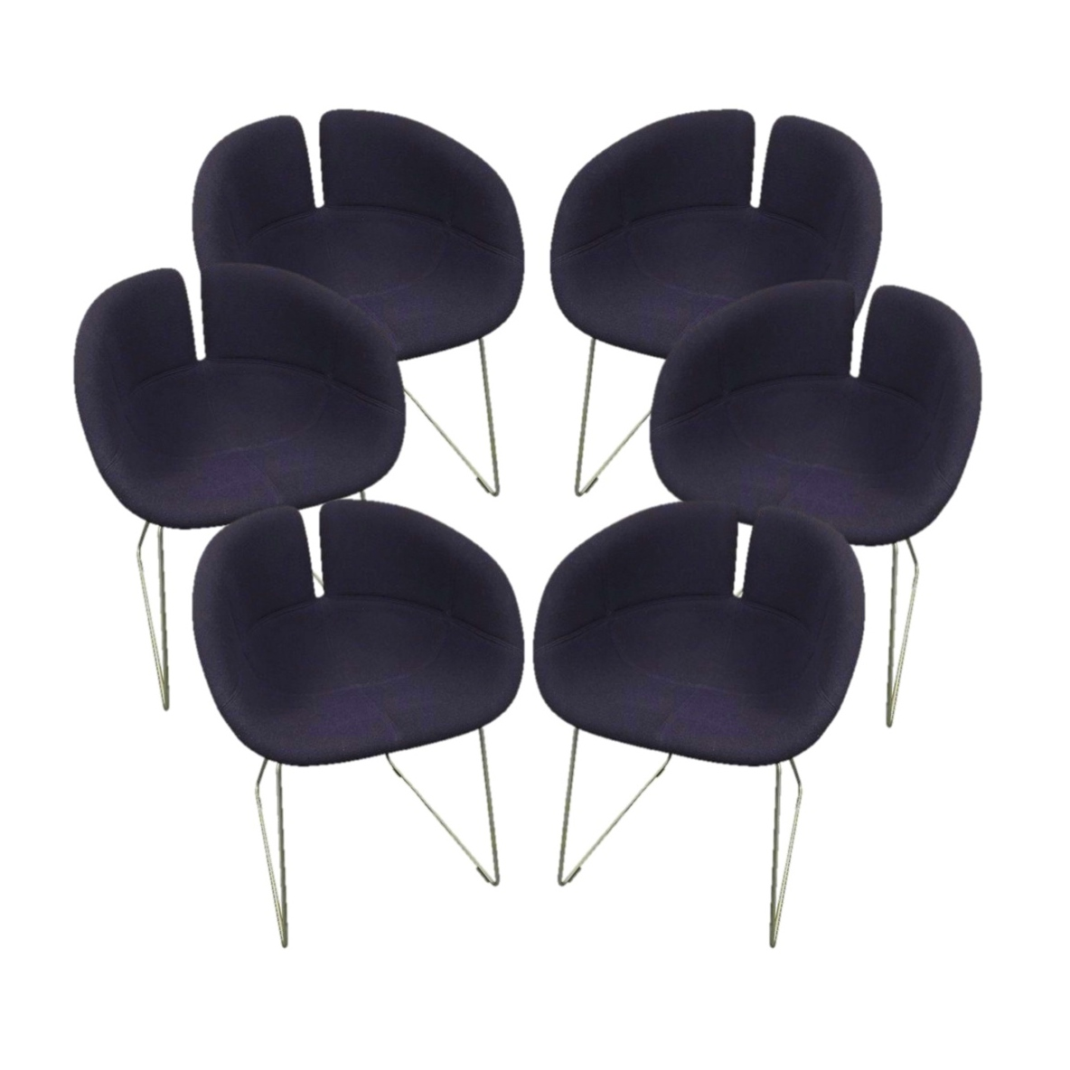 Bon Set Of Six Patricia Urquiola Fjord Purple Chairs, Original Price: $9,600.00    Design Plus Gallery