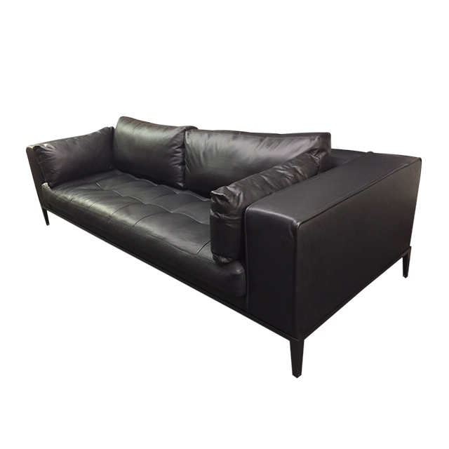 B b italia maxalto black leather sofa original price for B b italia maxalto sofa