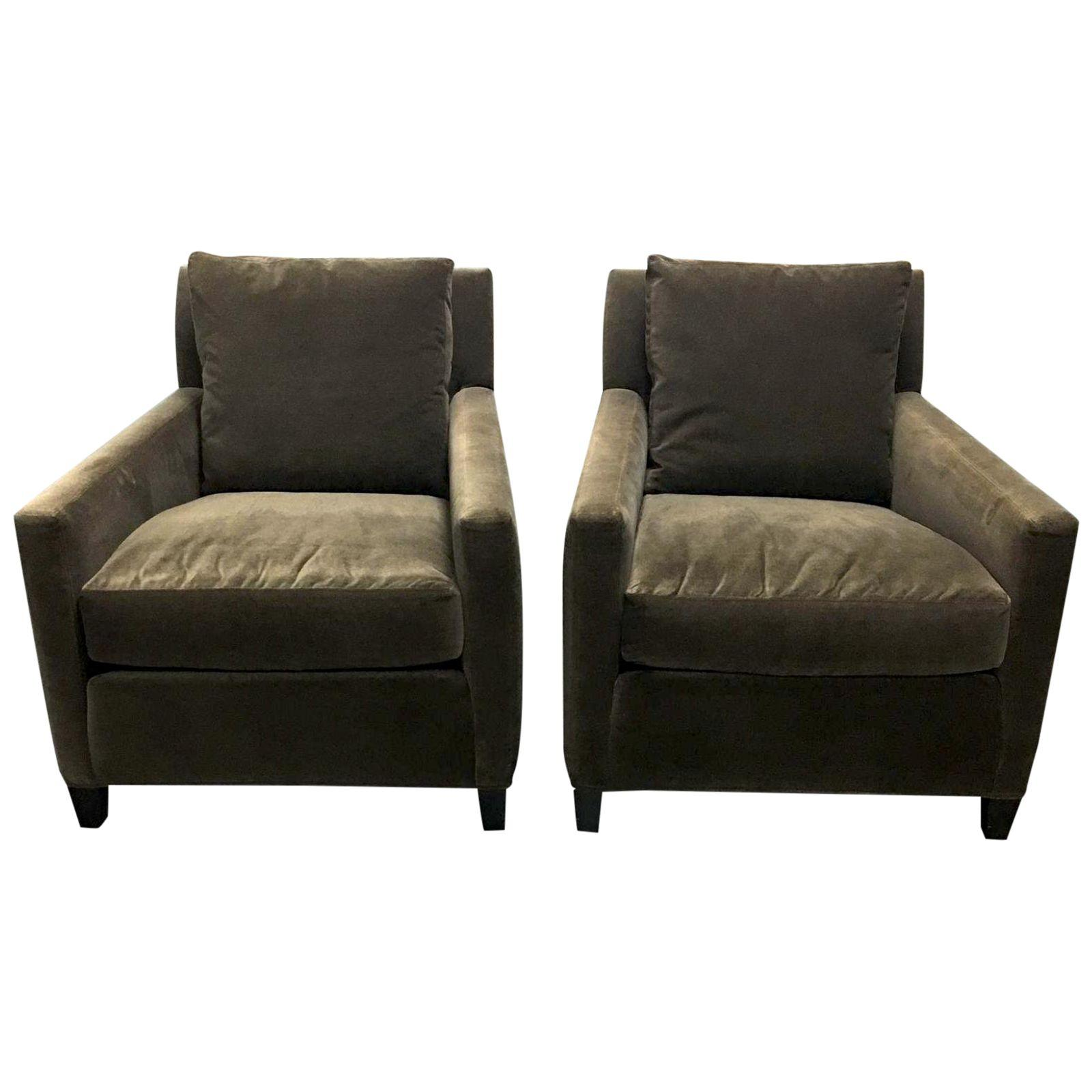 Pair Of Lees Industries Club Chairs, Original Price: $2,922.00