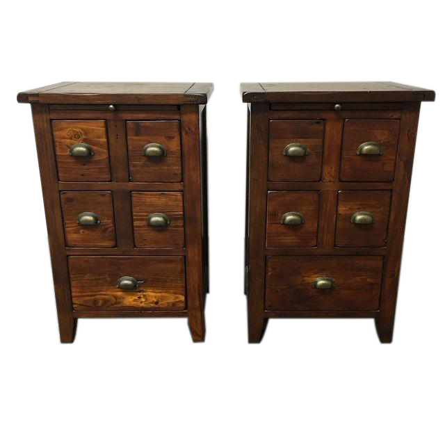 Pottery Barn Pair Of Reclaimed Camden Side Tables Design Plus Gallery