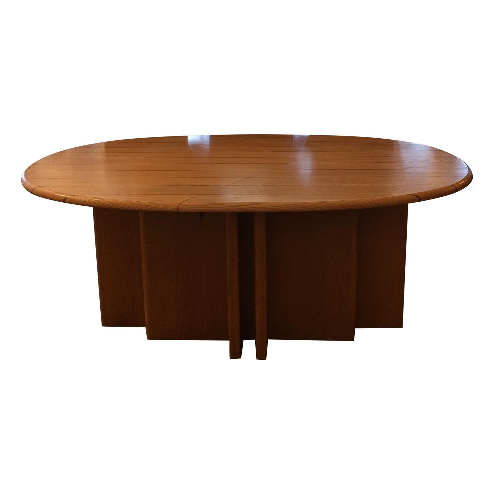 Scandinavian Designs Oval Dining Table Leaves Design Plus Gallery - Conference table with leaves