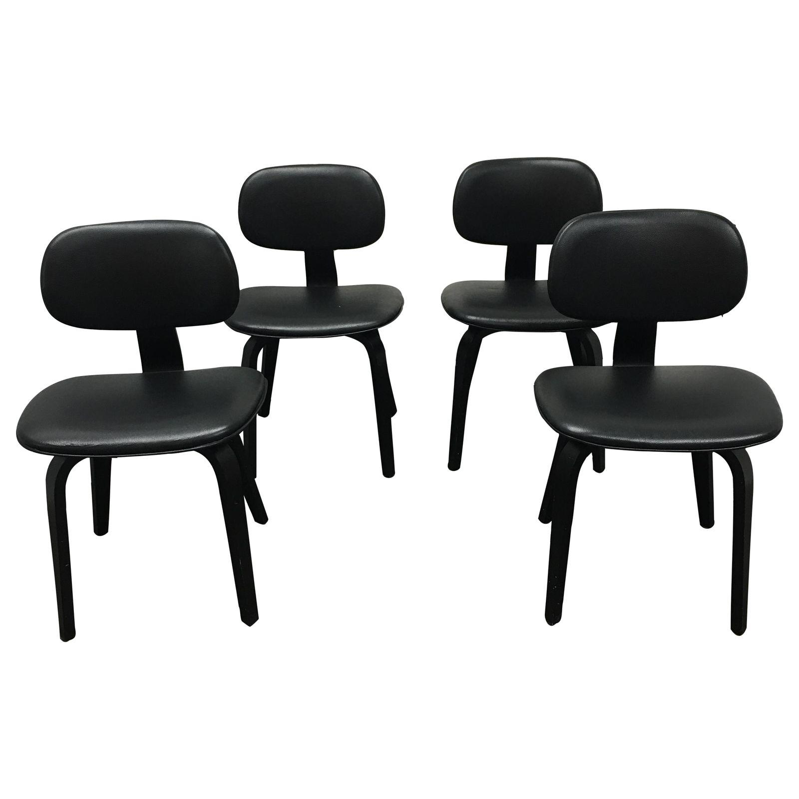 Set Of Four Thompson Gus Modern Chairs
