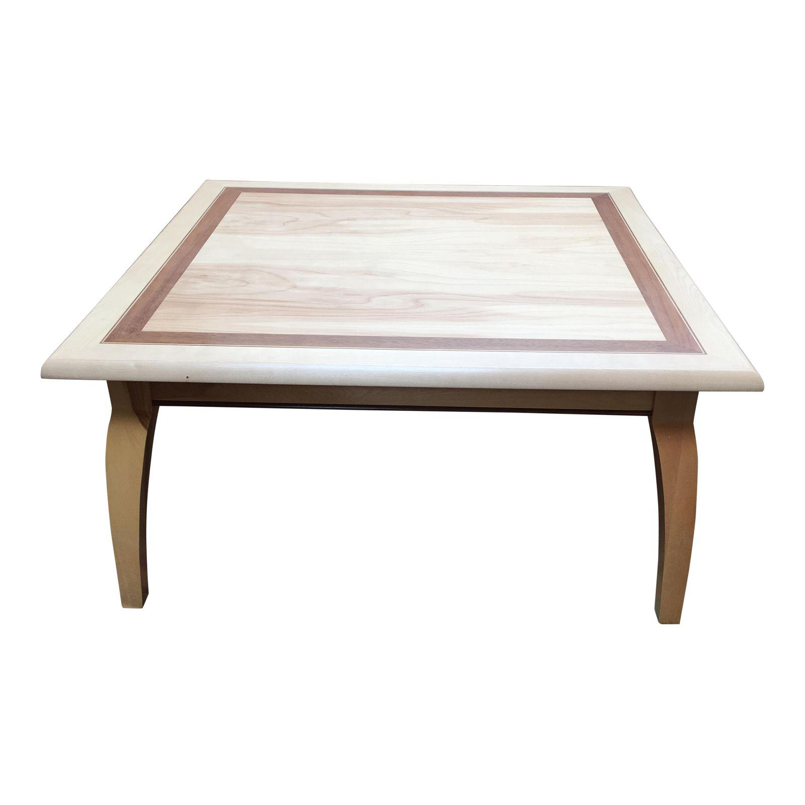 Ash Walnut Inlay Square Coffee Table Design Plus Gallery