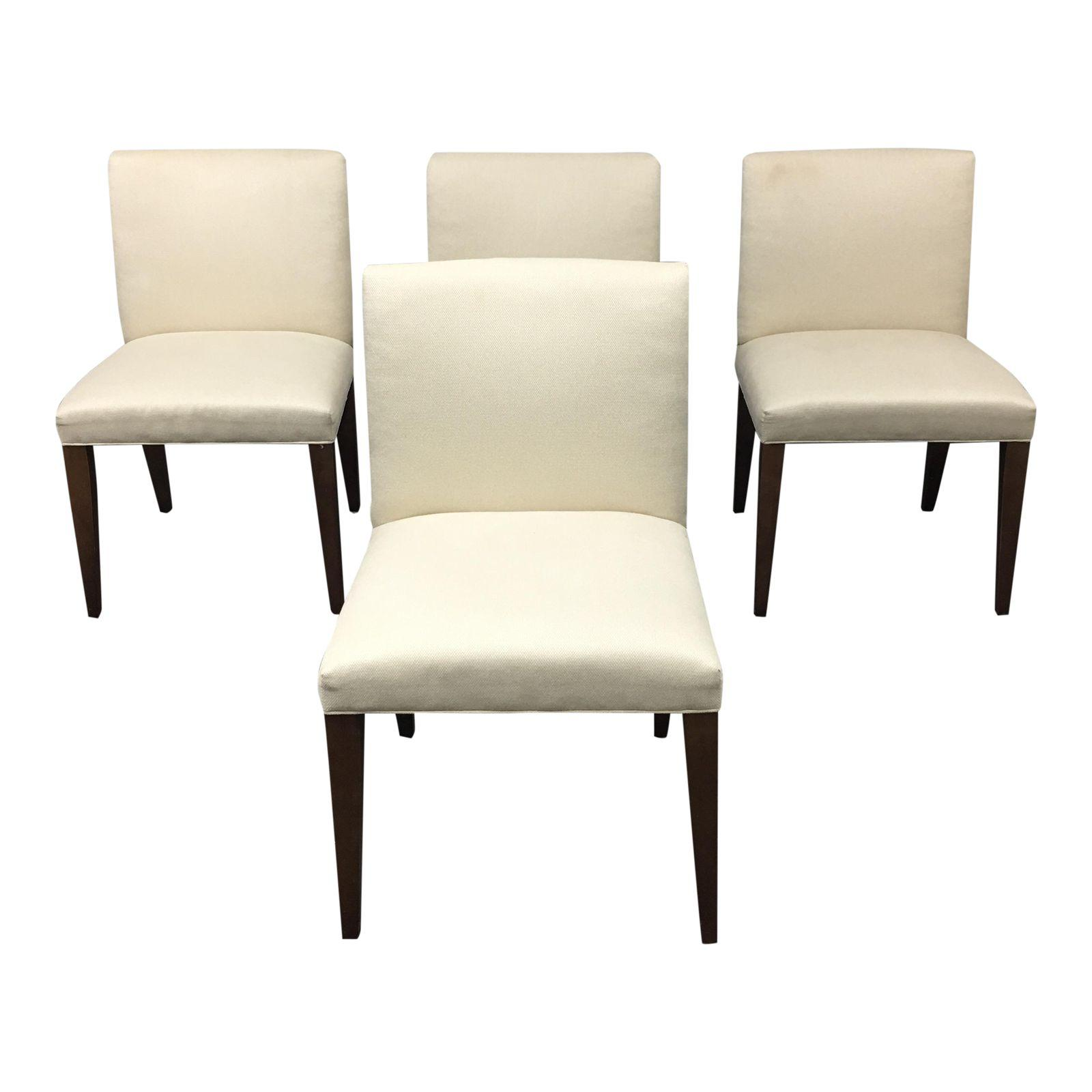 Room And Board Dining Chairs A Set Of Four Room Amp Board Marie Dining Chairs In Creamy White