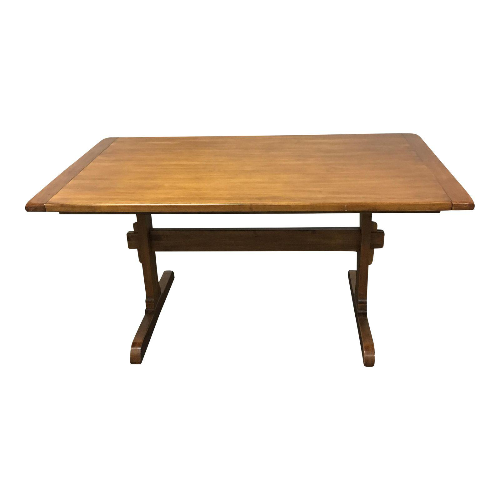 Ethan Allen Solid Maple Extension Dining Table Design Plus Gallery