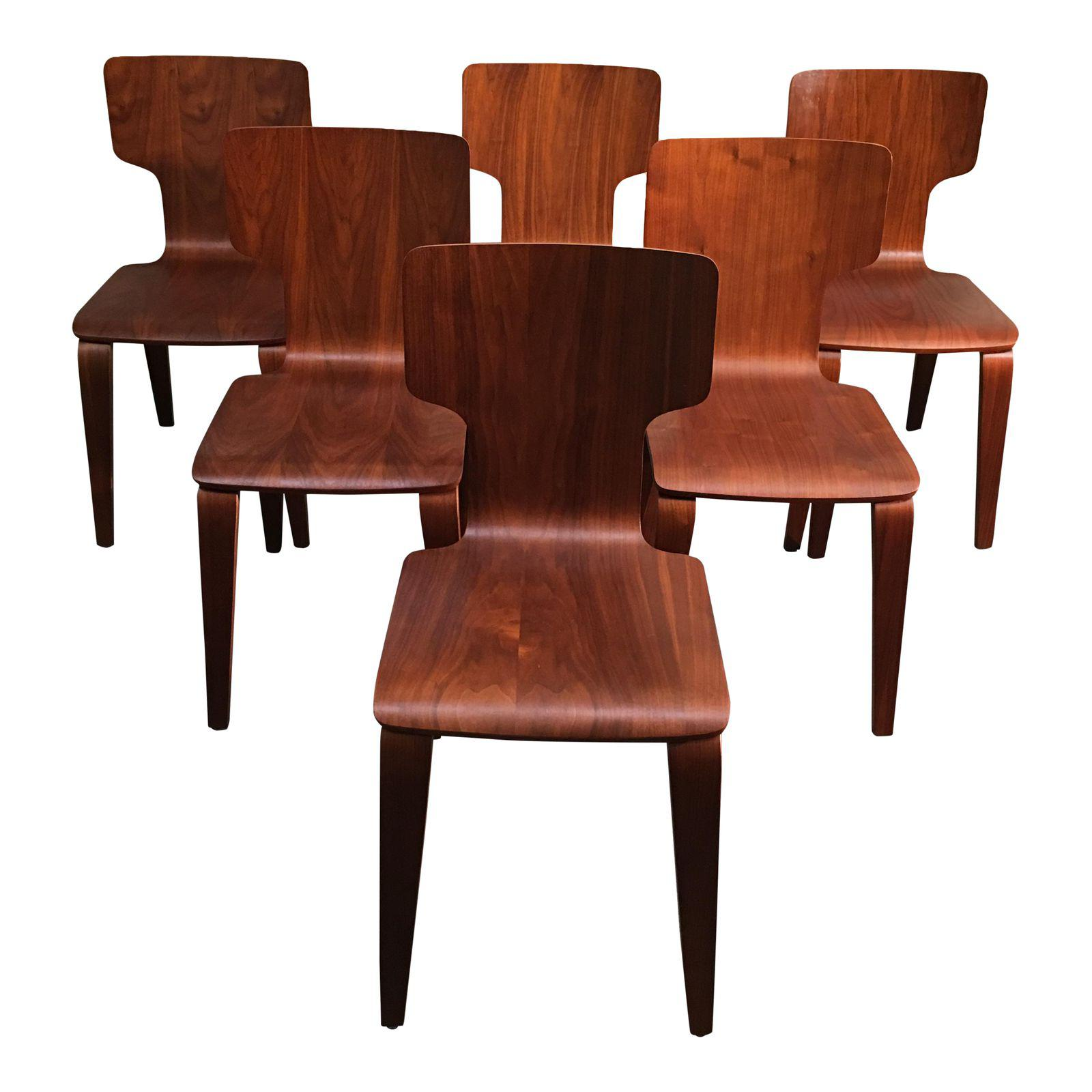 West Elm Stackable Bentwood Dining Chairs Set Of Six Design Plus Gallery
