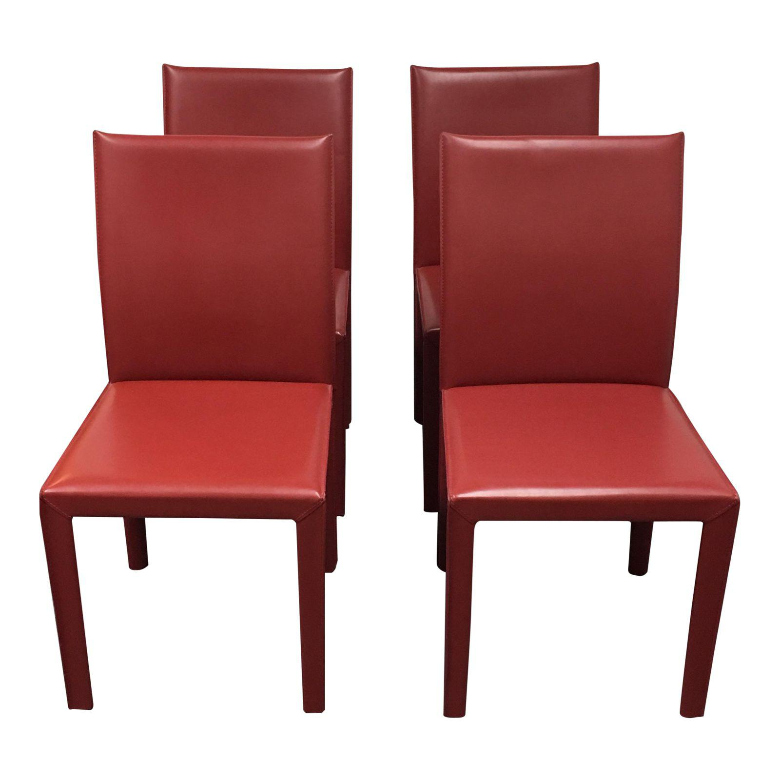 Picture of: Crate Barrel Folio Chairs Set Of 4 Design Plus Gallery