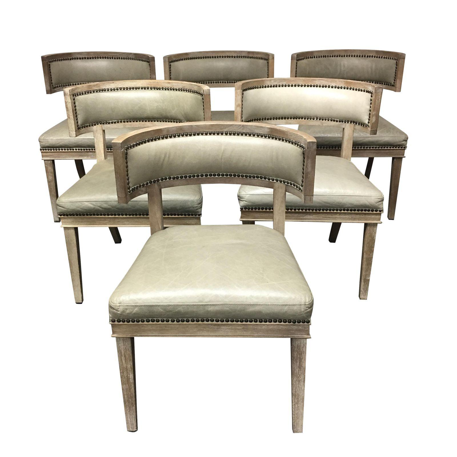 Brilliant Set Of Six Carter Dining Chairs From Four Hands Original Short Links Chair Design For Home Short Linksinfo
