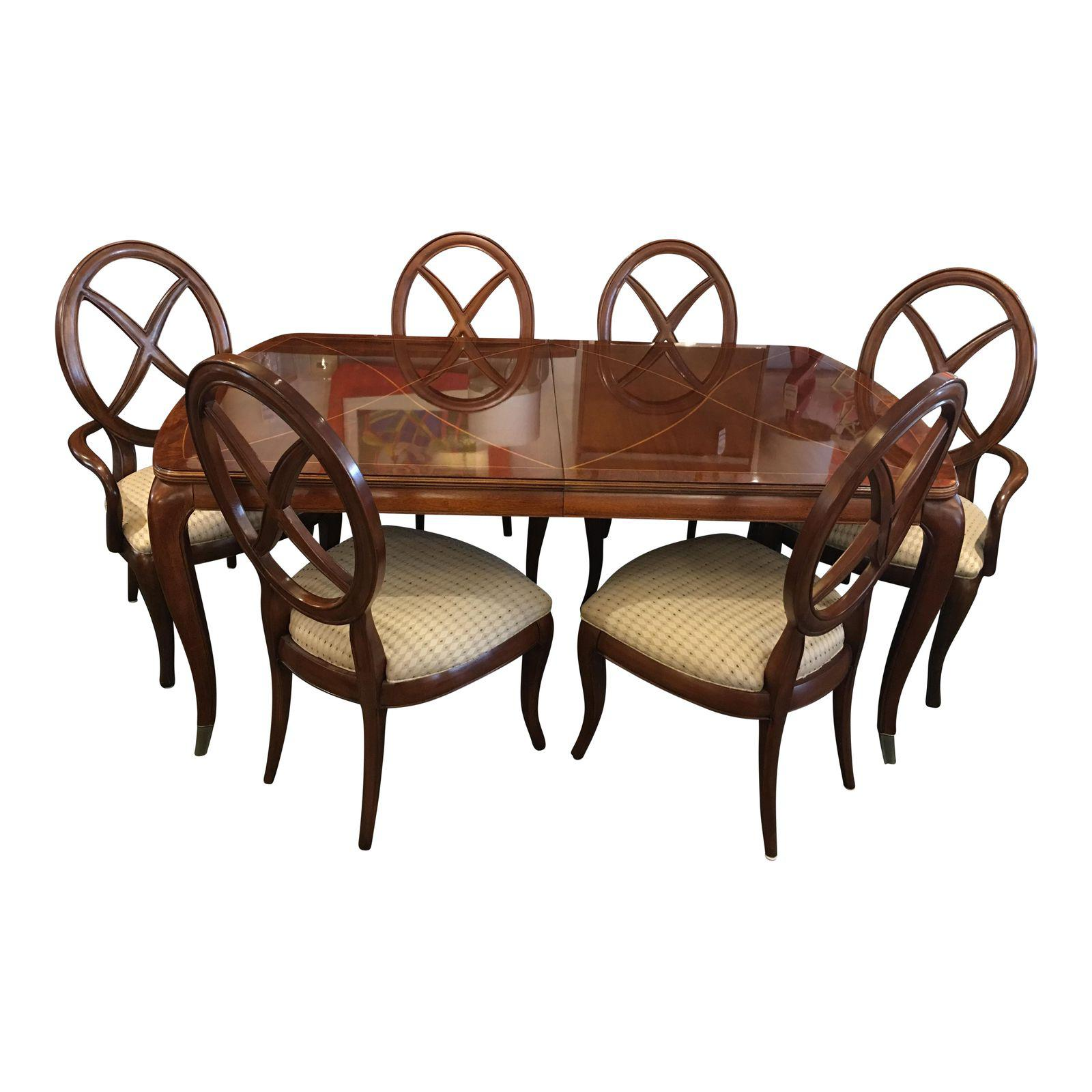 Thomasville   Bogart Collection Dining Table + 6 Chairs   Design Plus  Gallery