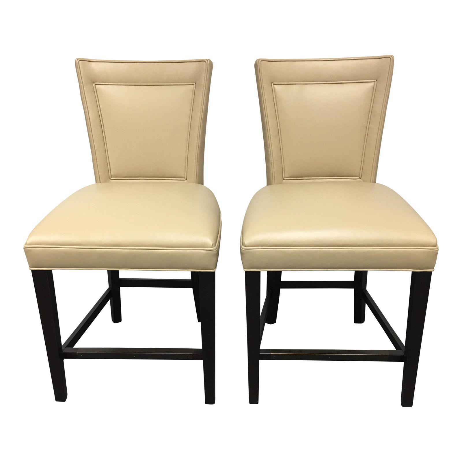 Outstanding New Pair Of Hickory Chair Flare Back Counter Stools Alphanode Cool Chair Designs And Ideas Alphanodeonline