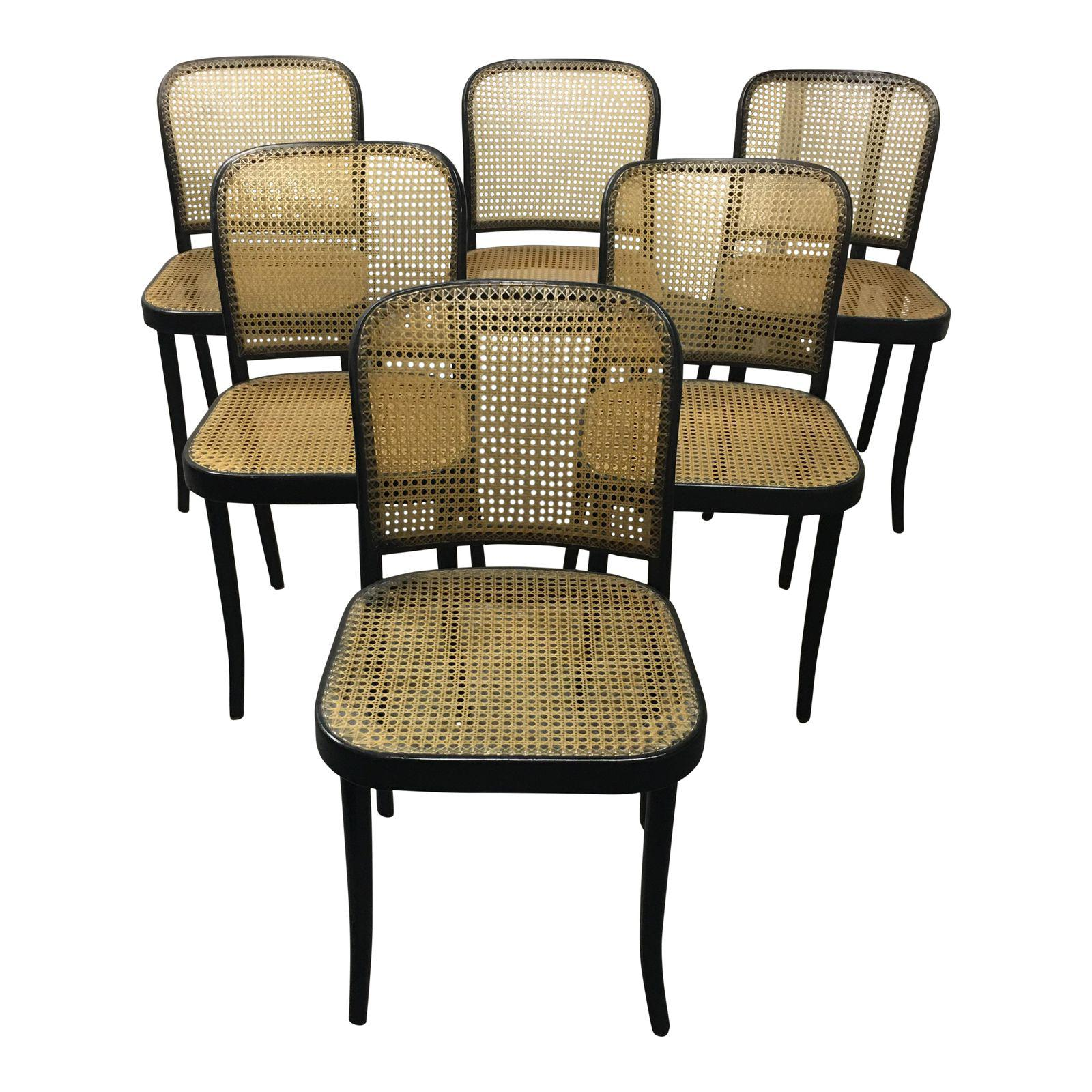 Stendig Thonet Black Bentwood Praque Dining Chairs – Set ...