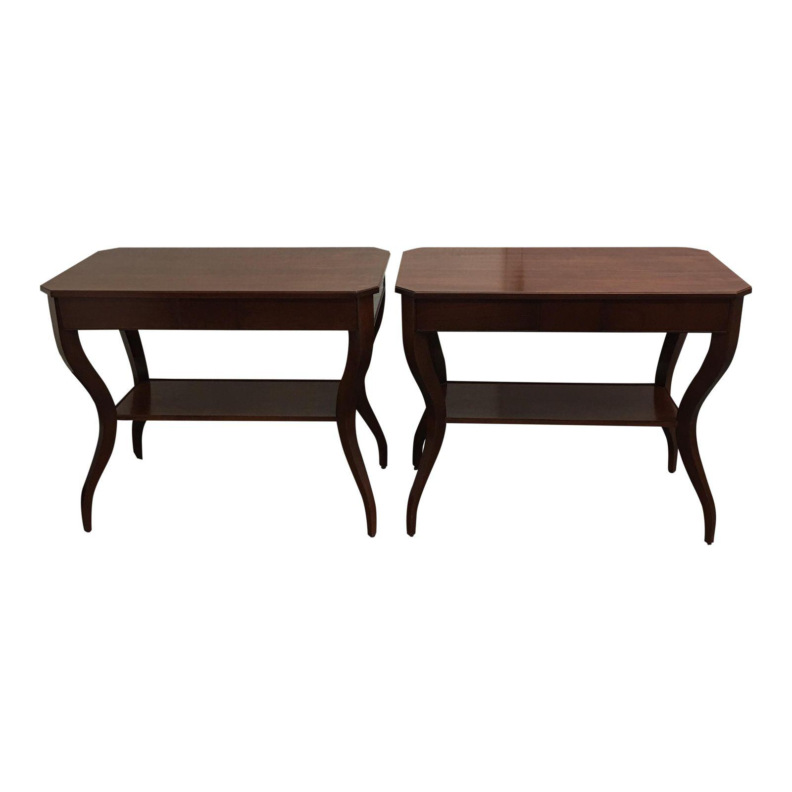 Pair Of Baker Furniture Side Tables Sold