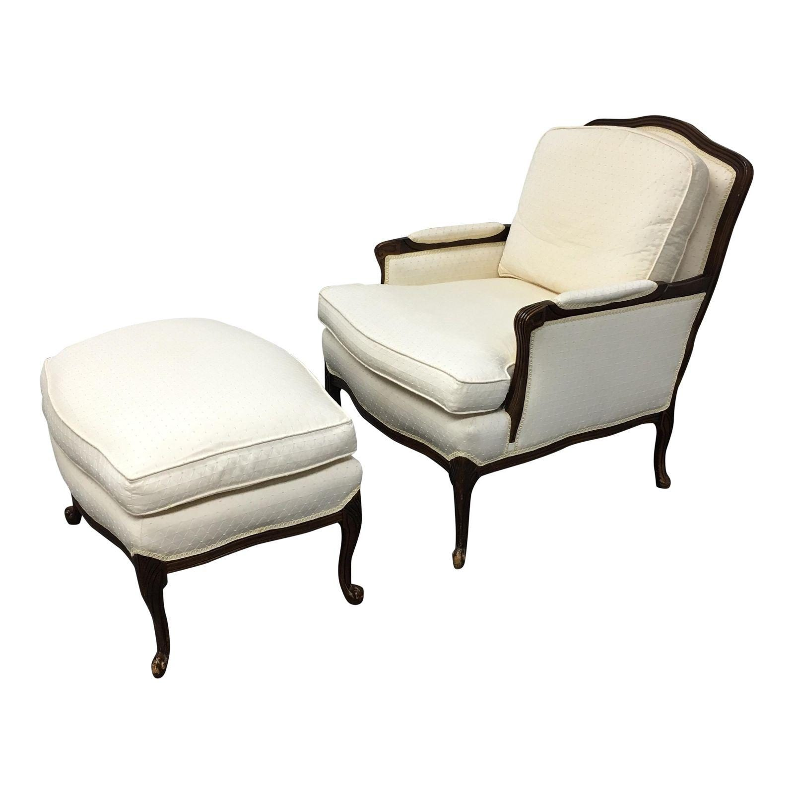 Bergere chair and ottoman - Bergere Chair And Ottoman 5