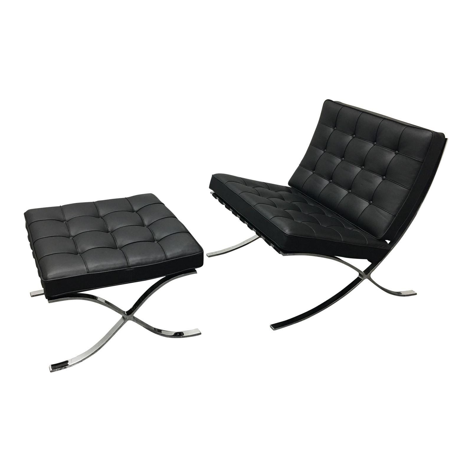 Brilliant Barcelona Chair With Ottoman Original Price 8 483 00 Caraccident5 Cool Chair Designs And Ideas Caraccident5Info