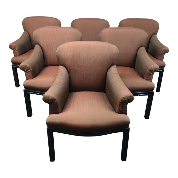 Custom Upholstered Dining Chairs, Set Of 6