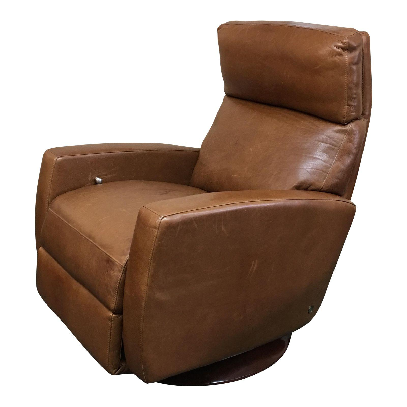 Stupendous American Leather Recliner In Cognac Color Leather Design Short Links Chair Design For Home Short Linksinfo