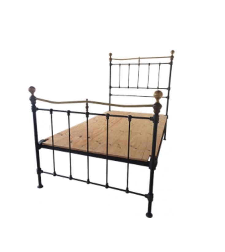 19th Century English Victorian Iron And Brass Twin Bed Design Plus