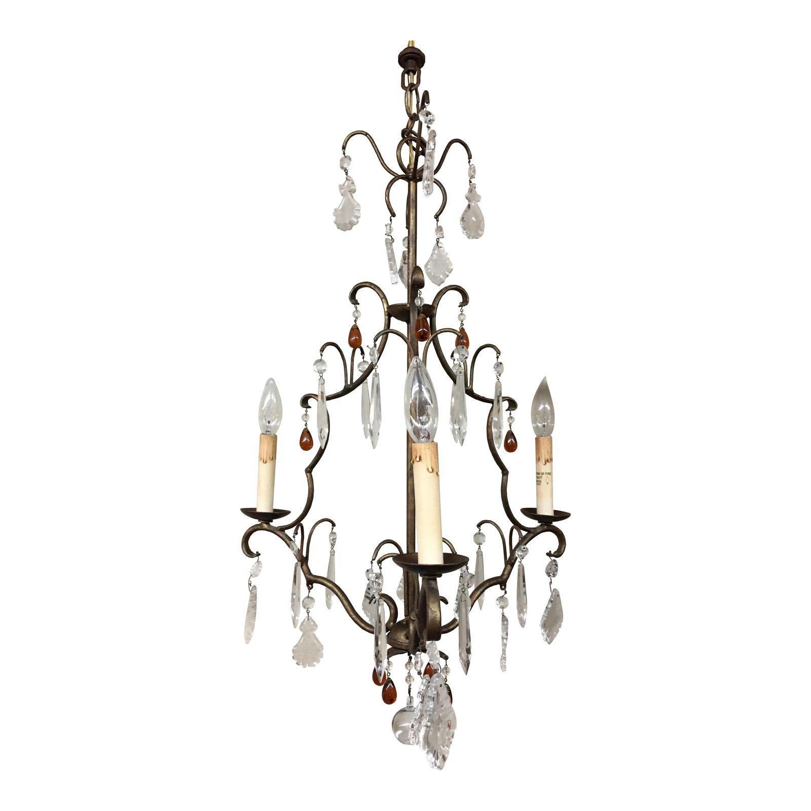 Currey & pany Iron Crystal Chandelier Design Plus Gallery