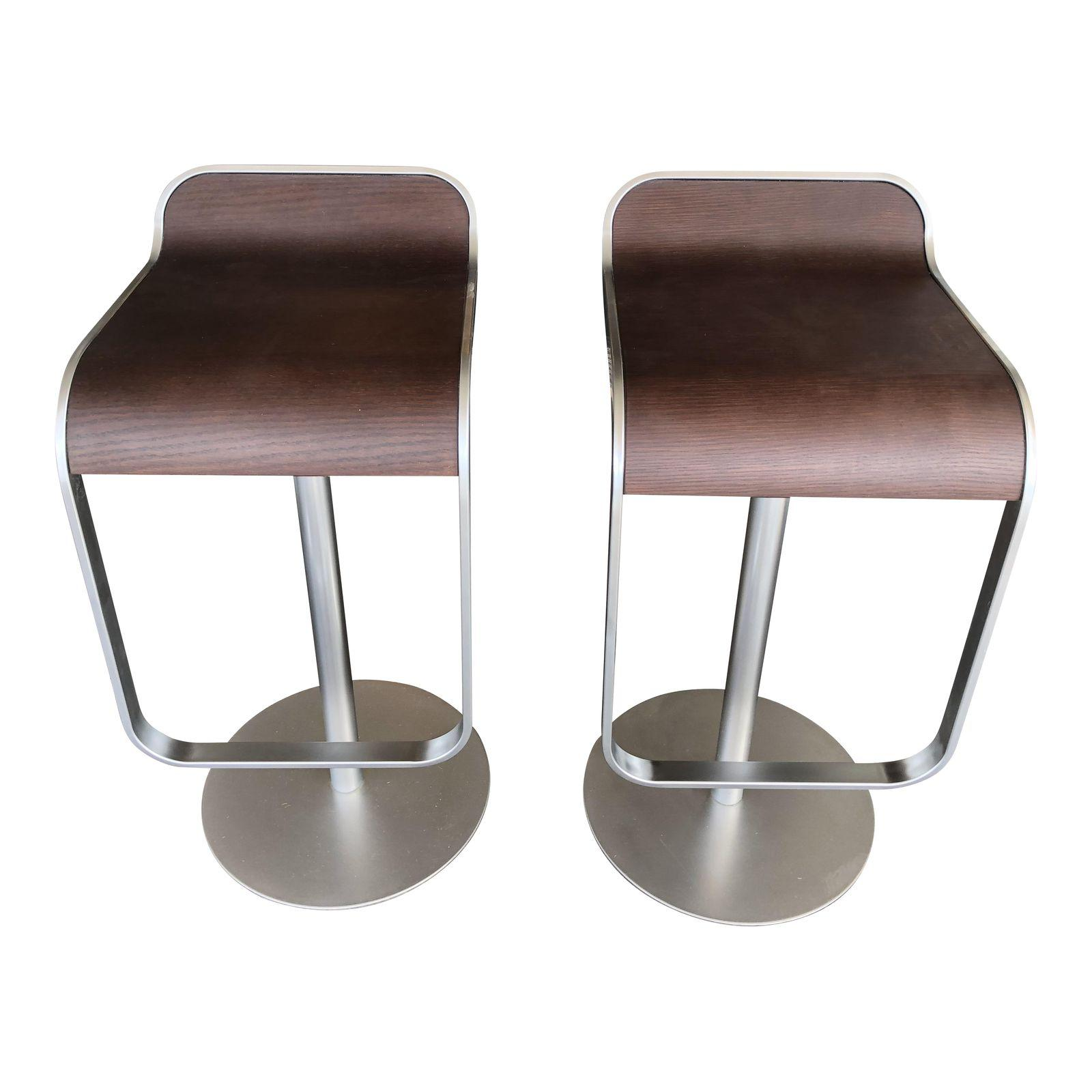 A pair of LEM Pistol Bar Stools from Design Within Reach. Designed by Shin and Tomoko Azumi the sculptural ...  sc 1 st  Design Plus Gallery & Design Within Reach Lem Pistol Bar Stools - A Pair. Original Price ... islam-shia.org