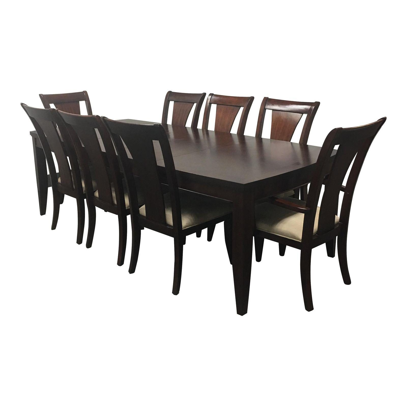 Brilliant Dining Table 2 Leaves Eight Chairs From Macys 5771 Design Download Free Architecture Designs Ogrambritishbridgeorg