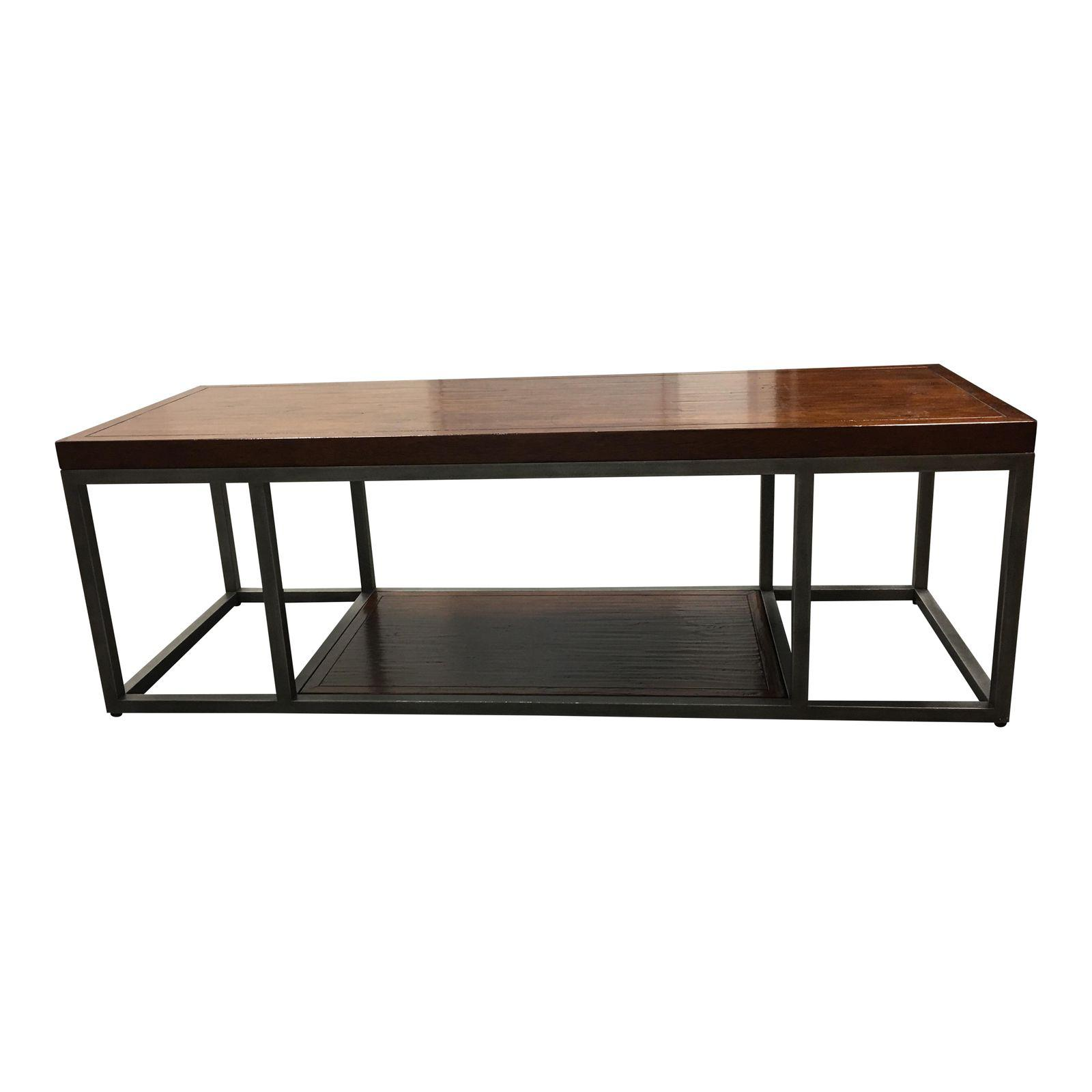 Henredon wood metal coffee table design plus gallery henredon wood metal coffee table geotapseo Image collections