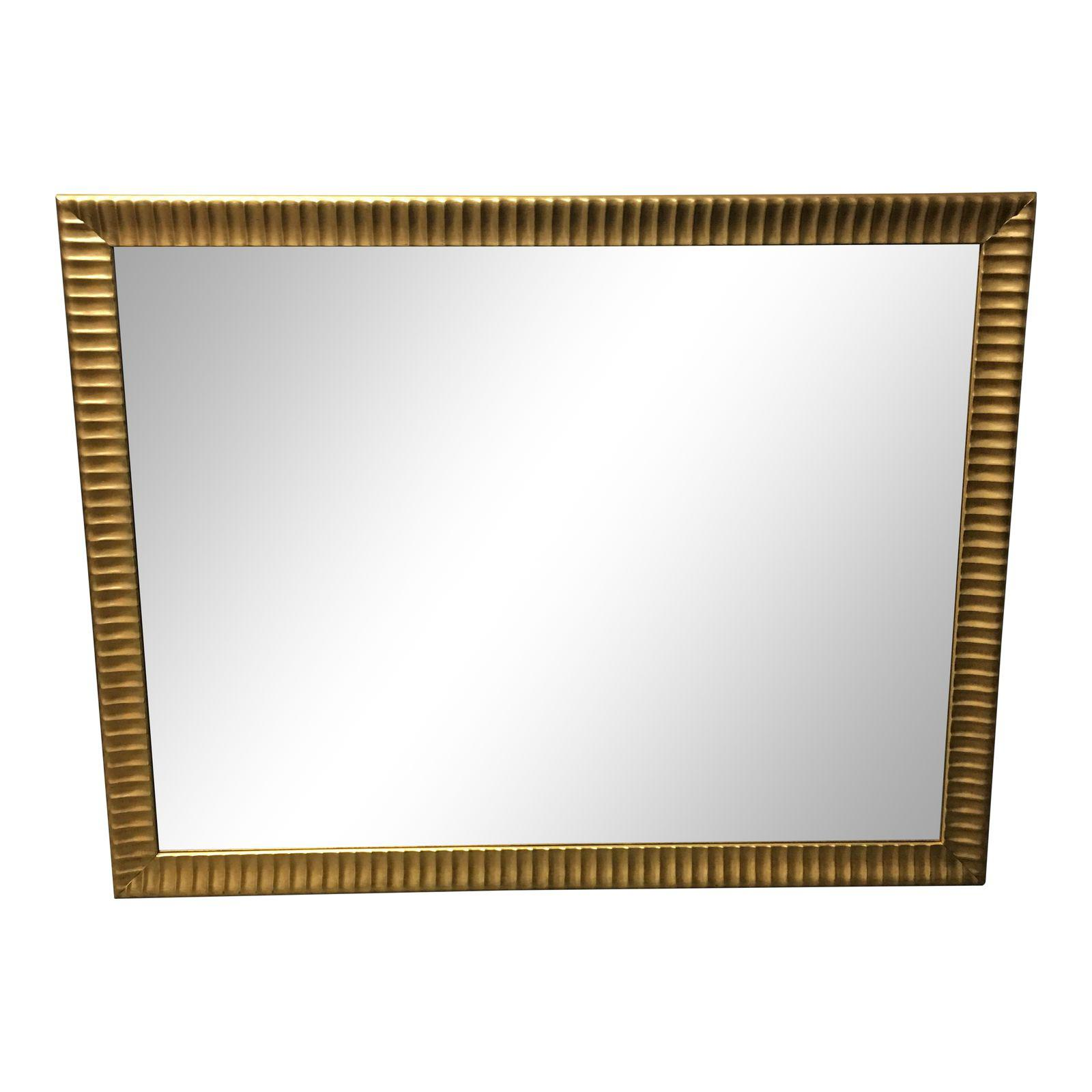 large-gold-framed-wall-mirror-0411 - Design Plus Gallery