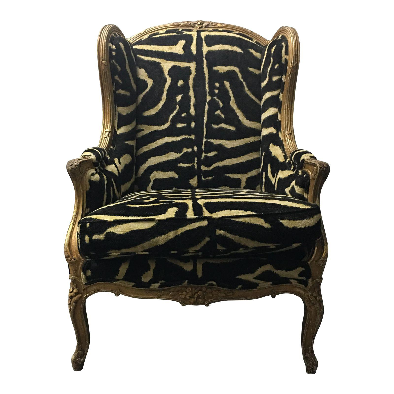 Vintage French Wingback Chair Design Plus Gallery