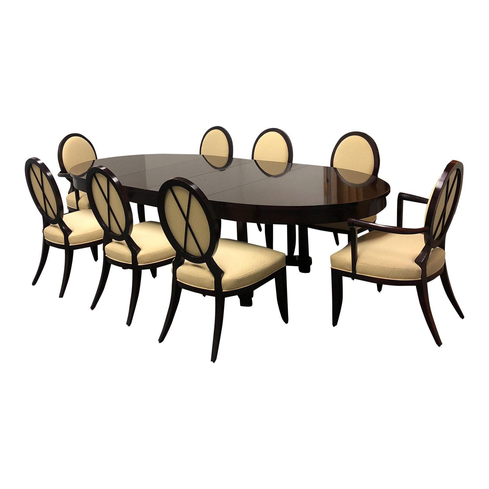 Barbara Barry Oval Dining Table 8 Chairs For Baker Set Of 9 Original Price 20 000 00 Design Plus Gallery