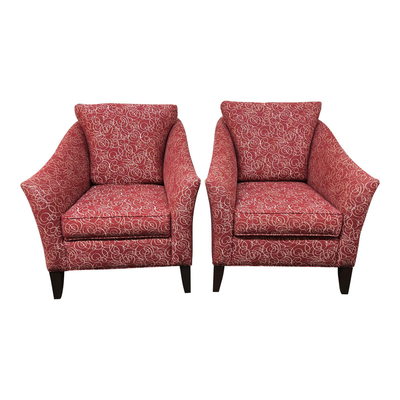 Ethan Allen Gibson Accent Chairs – A Pair  Design Plus Gallery