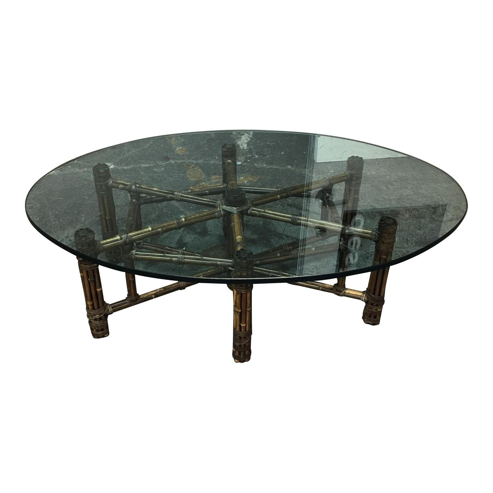 McGuire Bamboo & Glass Coffee Table Design Plus Gallery