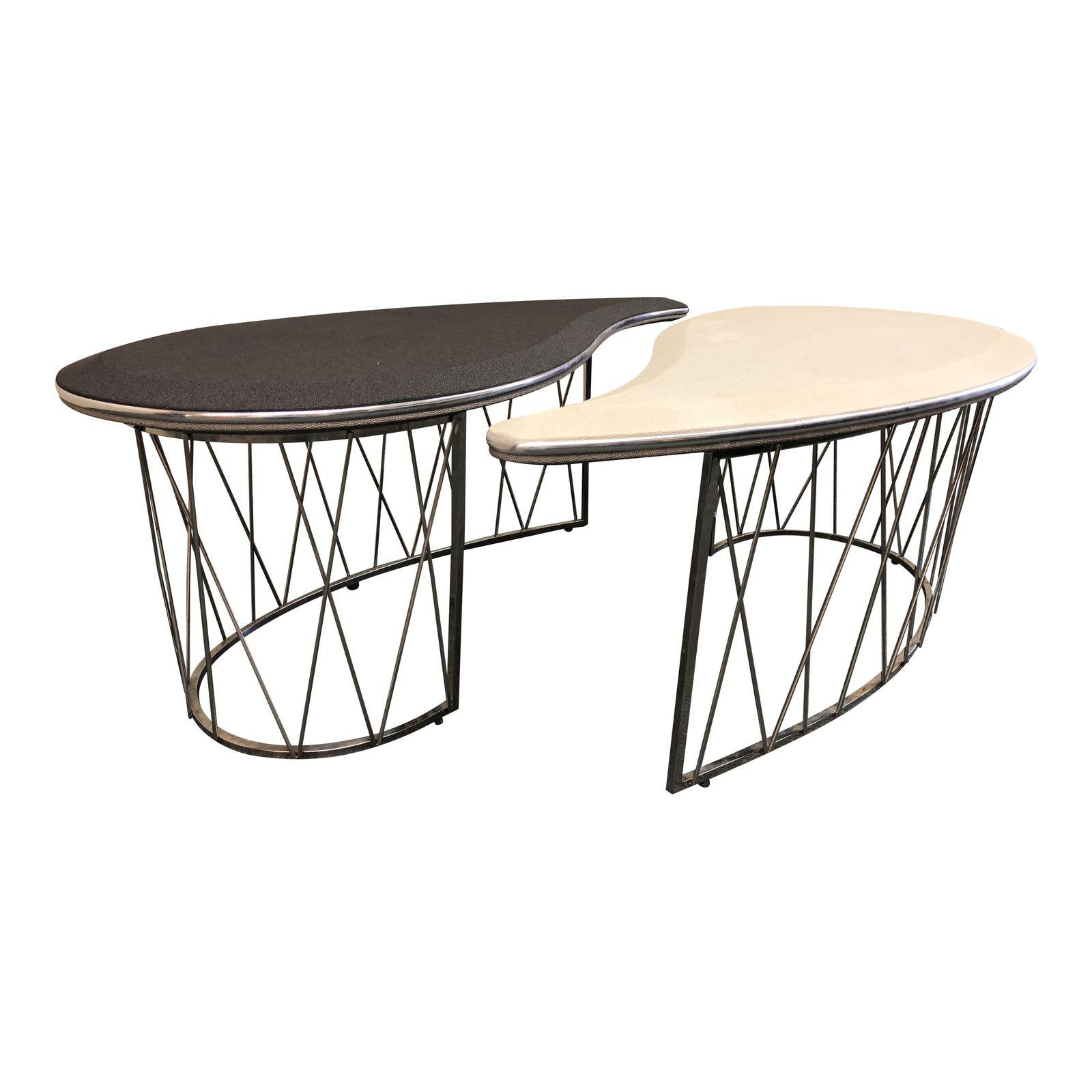 Michael Amini Yin Yang Cocktail Tables A Pair Design Plus Gallery