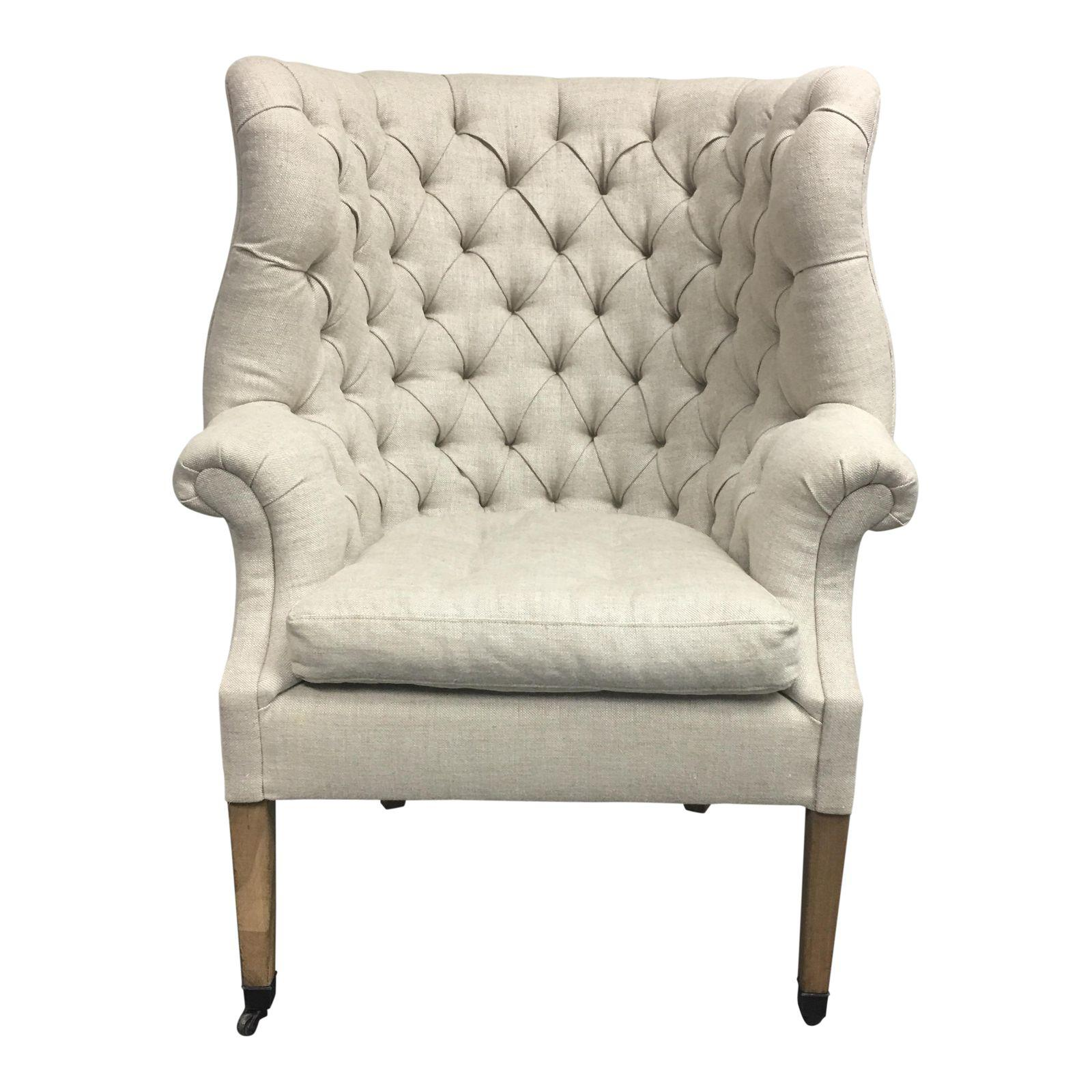Attirant Restoration Hardware 19th Century English Wingback Chair. Original Price:  $2,295.00