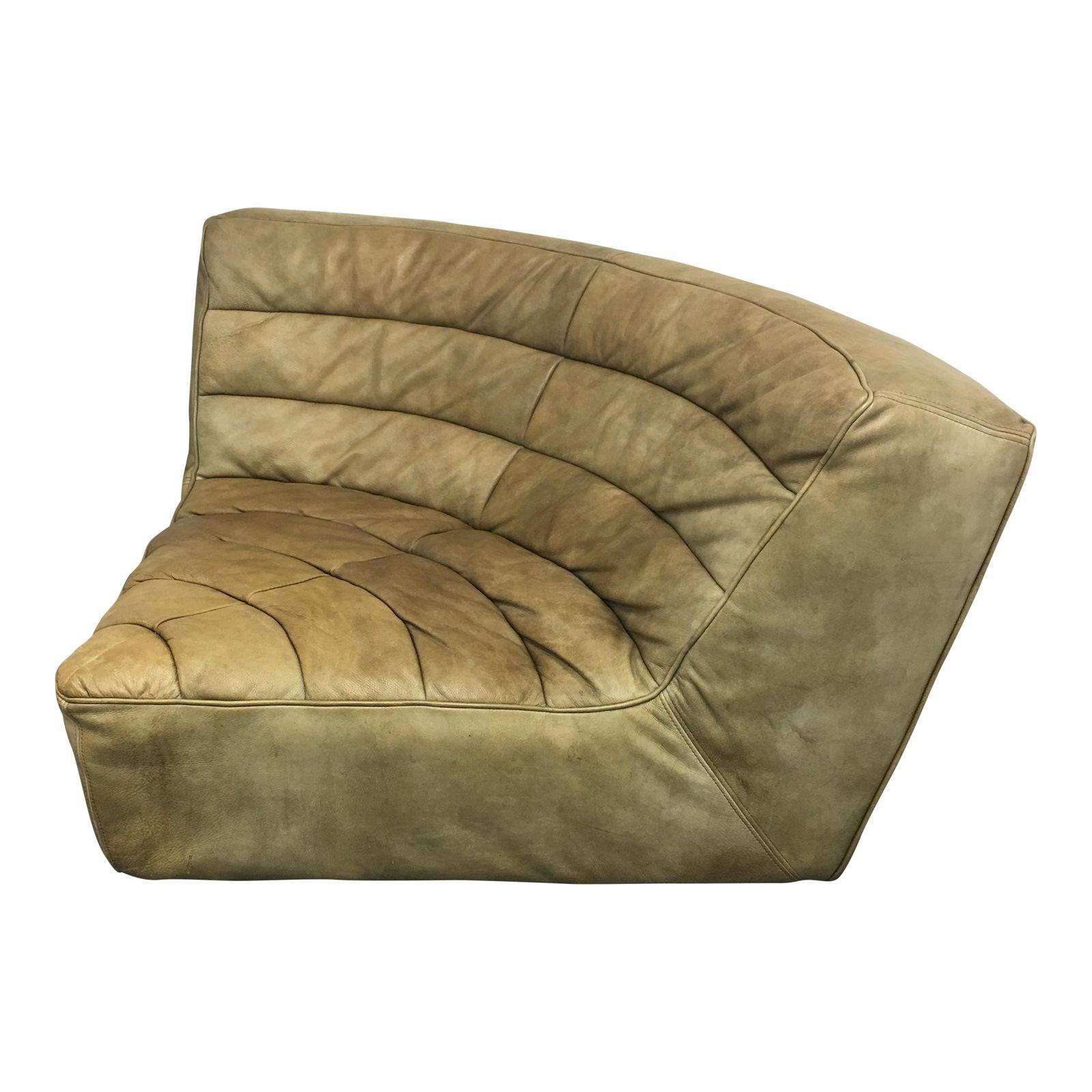 Restoration Hardware Chelsea Leather Round Corner Chair Original Price 2 950 00