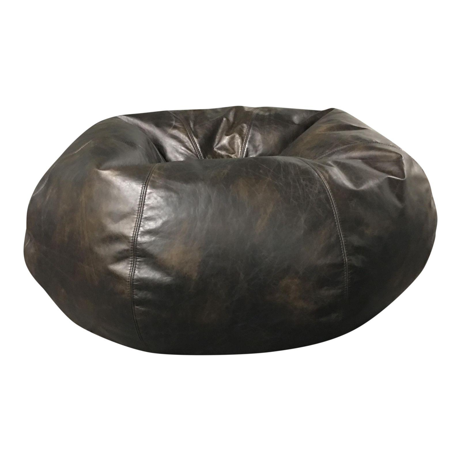 Restoration Hardware Grand Leather Bean Bag Chair 7581 1