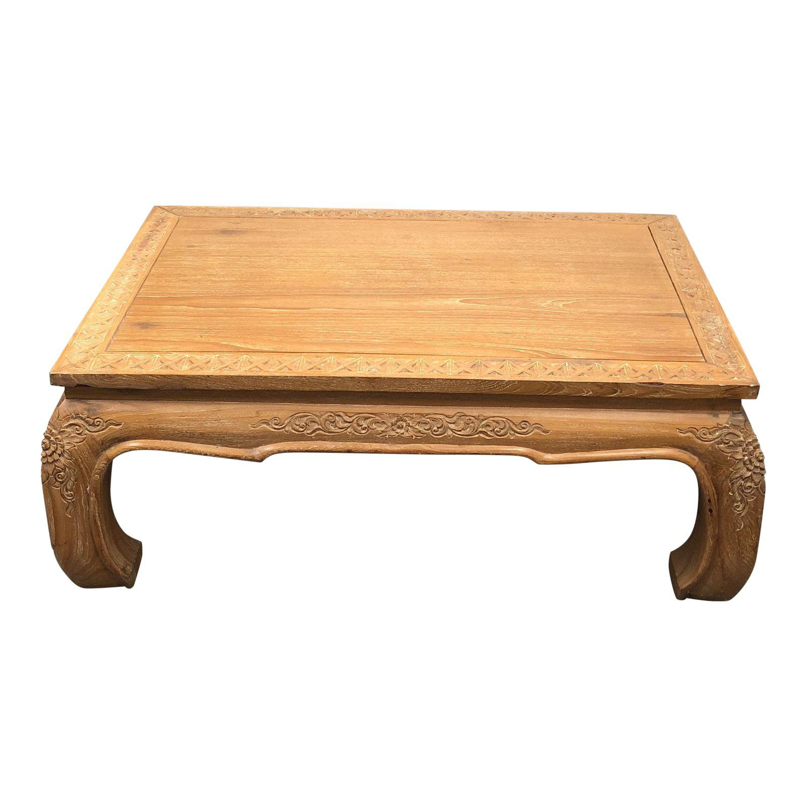 Asian Style Wood Coffee Table Design Plus Gallery