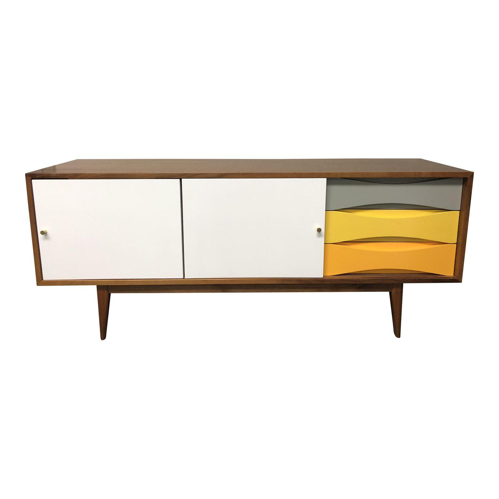 custom made mid century modern style credenza design