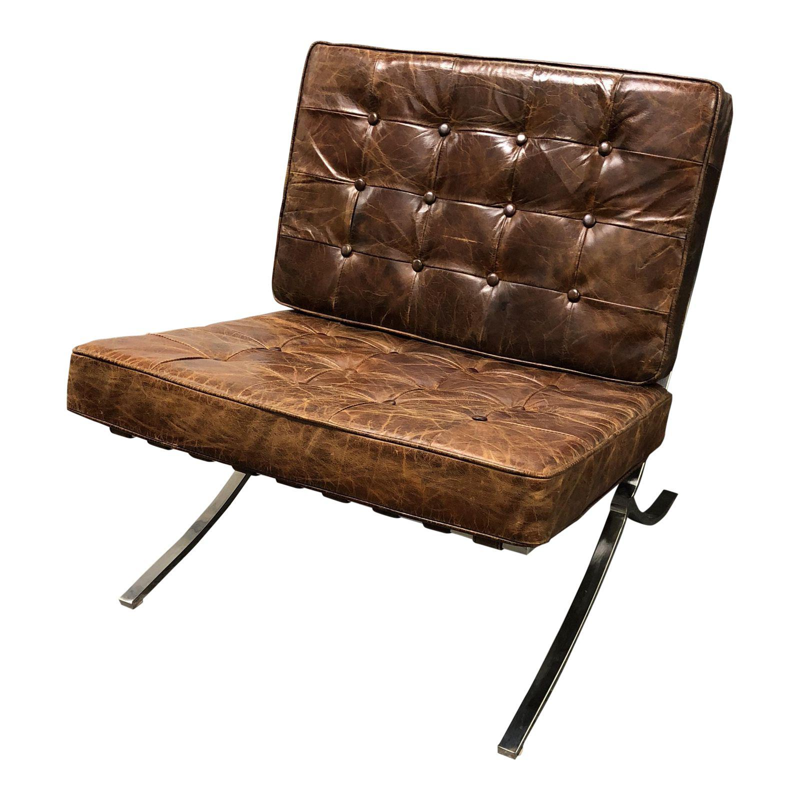 Four Hands Hugo Distressed Cigar Leather Chair 7757