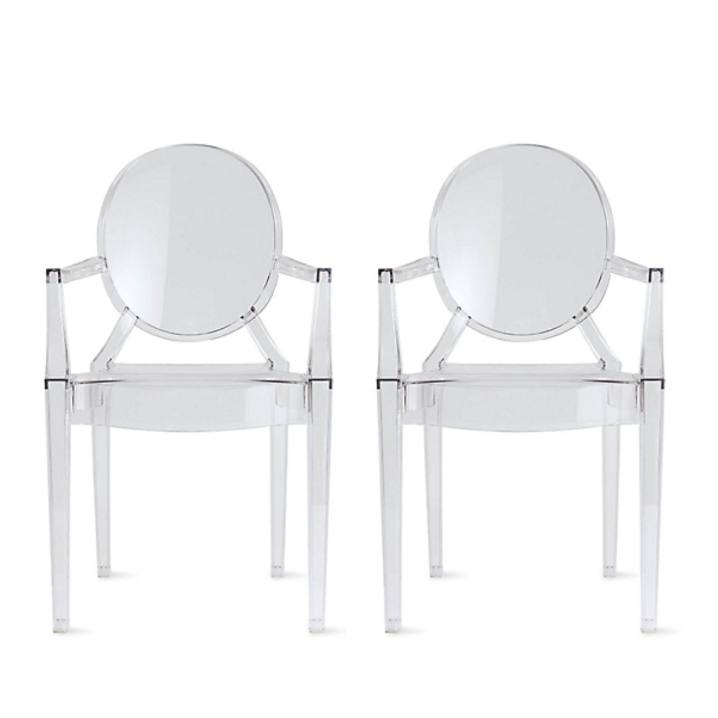 Kartell Louis Ghost Chairs - a Pair - Design Plus Gallery