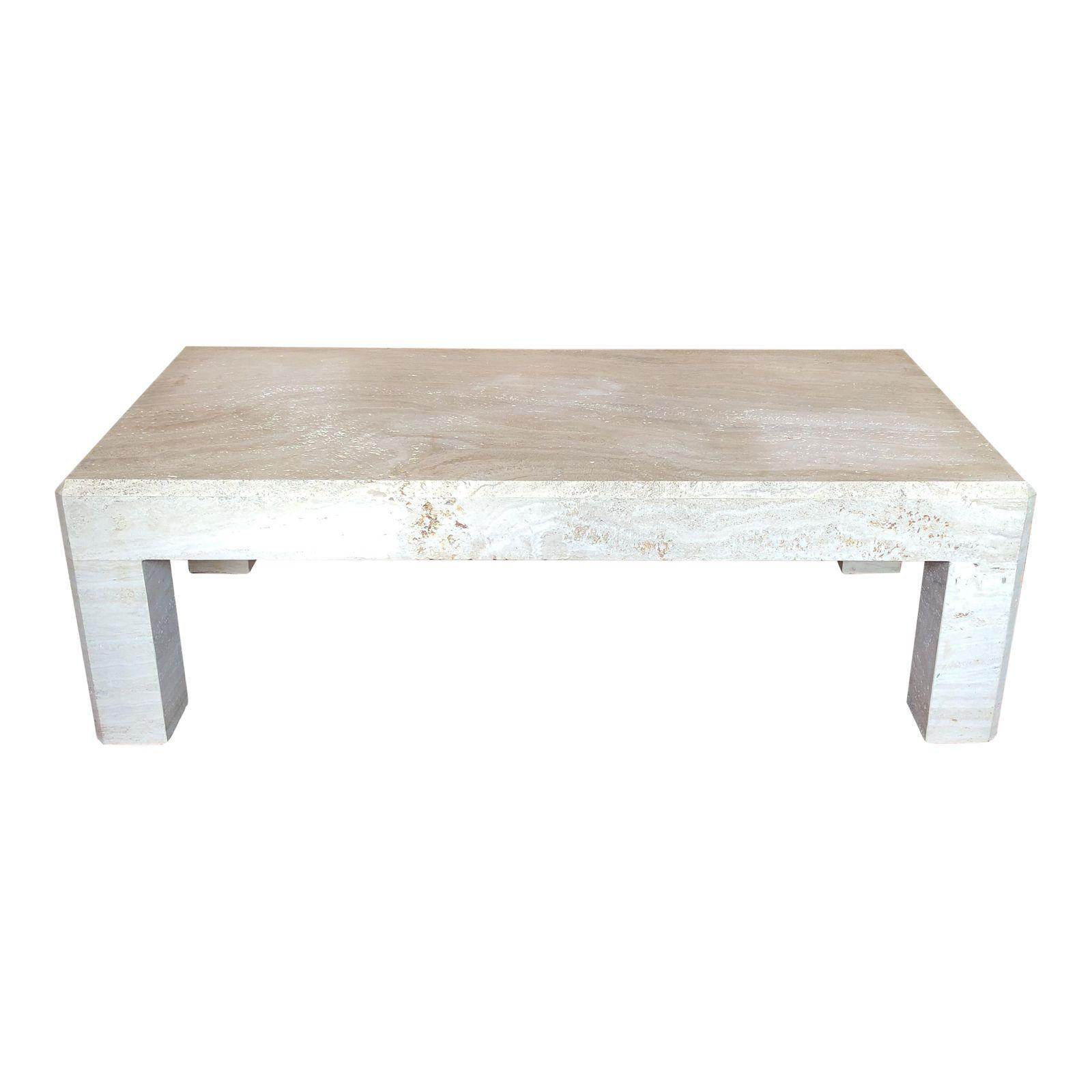 Travertine Slab Coffee Table: Kreiss Collection Travertine Coffee Table