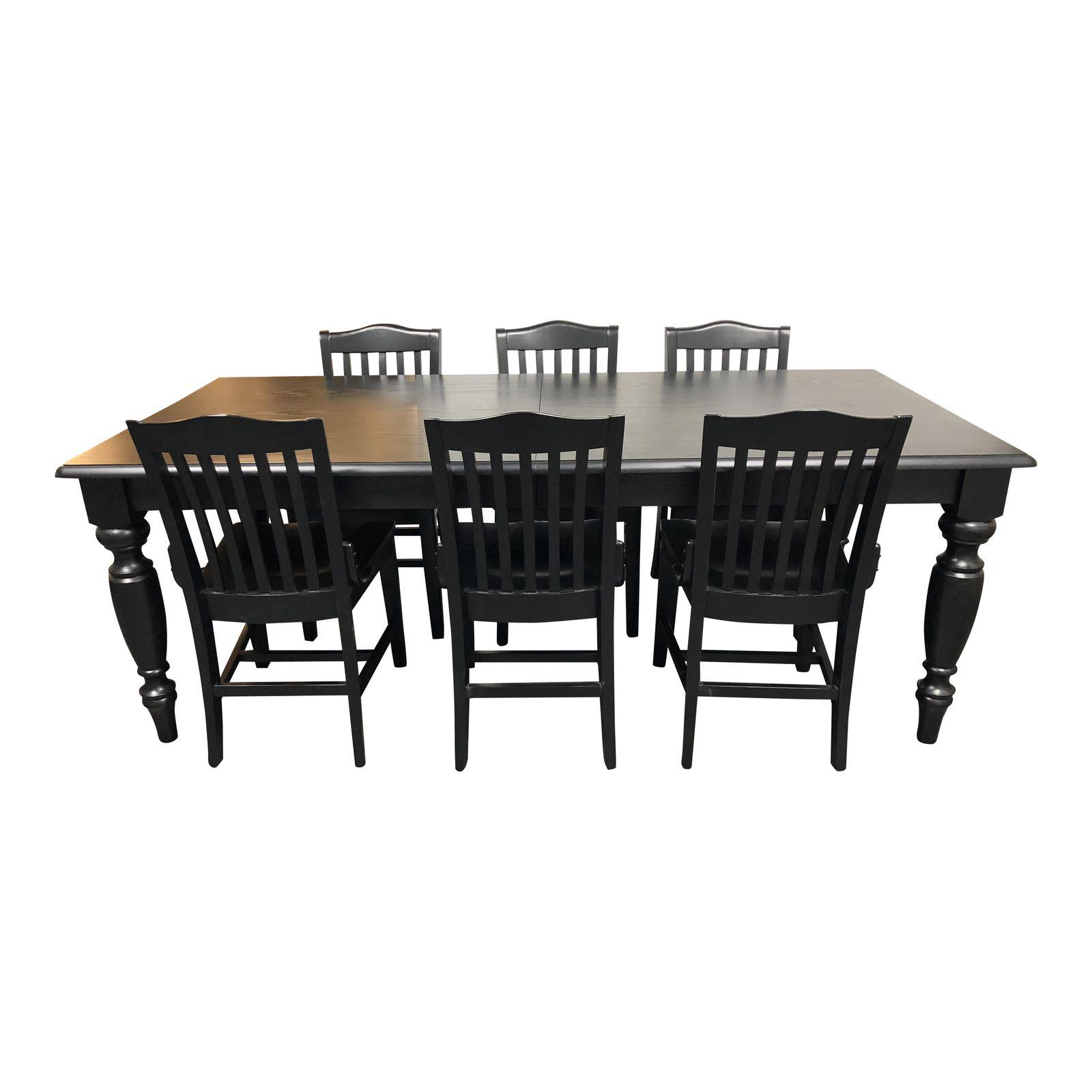 Pottery Barn Francisco Black Table And Six Chairs Dining Set 8852