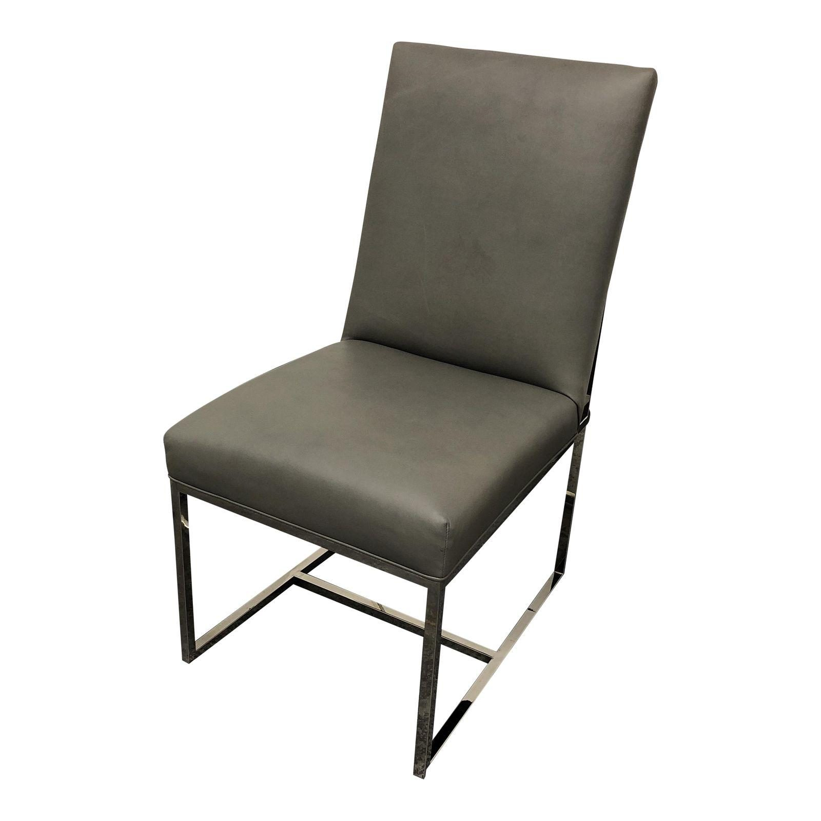 Restoration Hardware Grant Leather Chair. Original Price:$1,895.00   Design  Plus Gallery