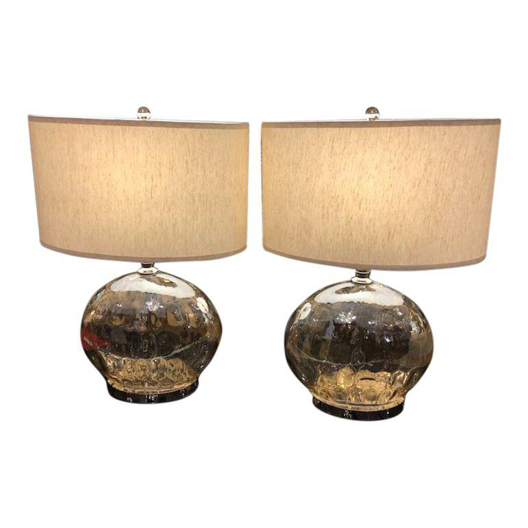 Uttermost Piaden Water Glass Table Lamps - A Pair - Design Plus Gallery
