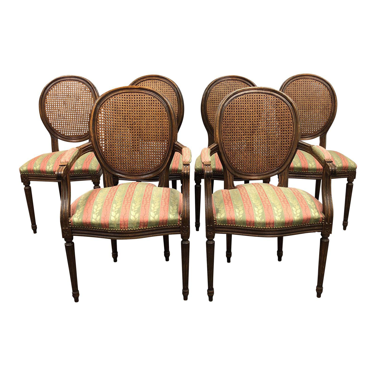 Fratelli Boffi Louis XVI Dining Chairs U2013 Set Of 6
