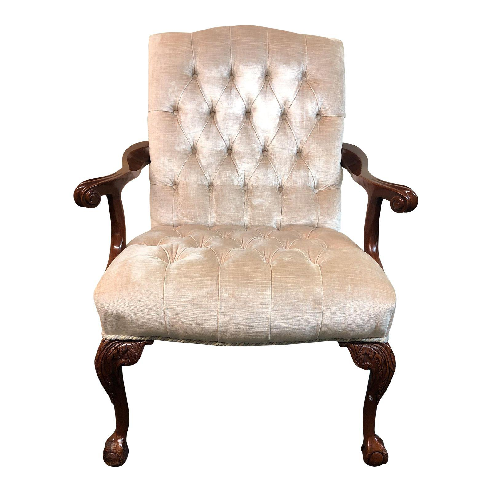 Hancock moore chippendale style upholstered armchair design design parisarafo Images